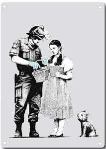 Banksy Policeman And Dorothy metal sign   380mm x 280mm  (2f)